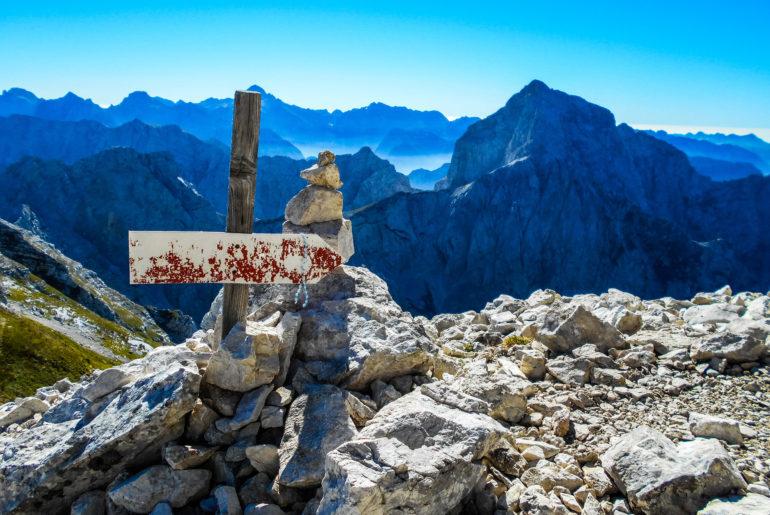 Wejście na Mangart ferrata via Slovena