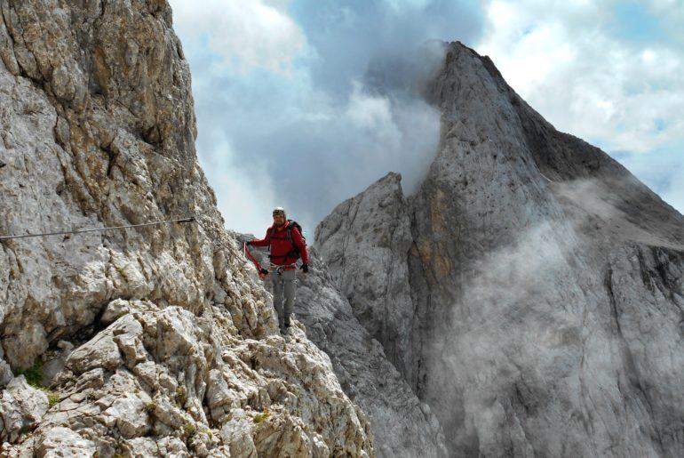 Via ferrata Stella Alpina na Monte Agner