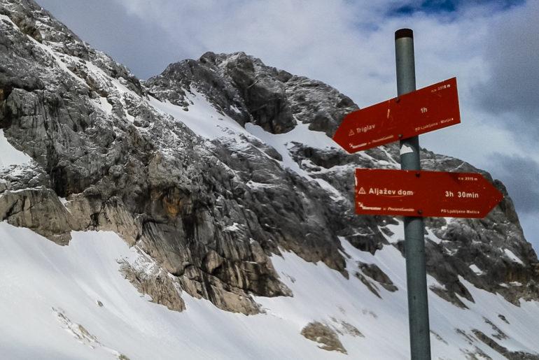 Wejście na Triglav najwyższy szczyt Słowenii